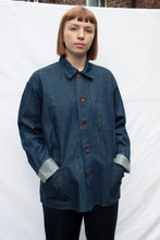 Load image into Gallery viewer, USKEES The #3001 Buttoned Overshirt in Rinsed Denim