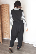 Load image into Gallery viewer, Button Down Black Jumpsuit