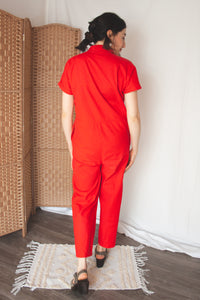 Red Boilersuit (XS-S)