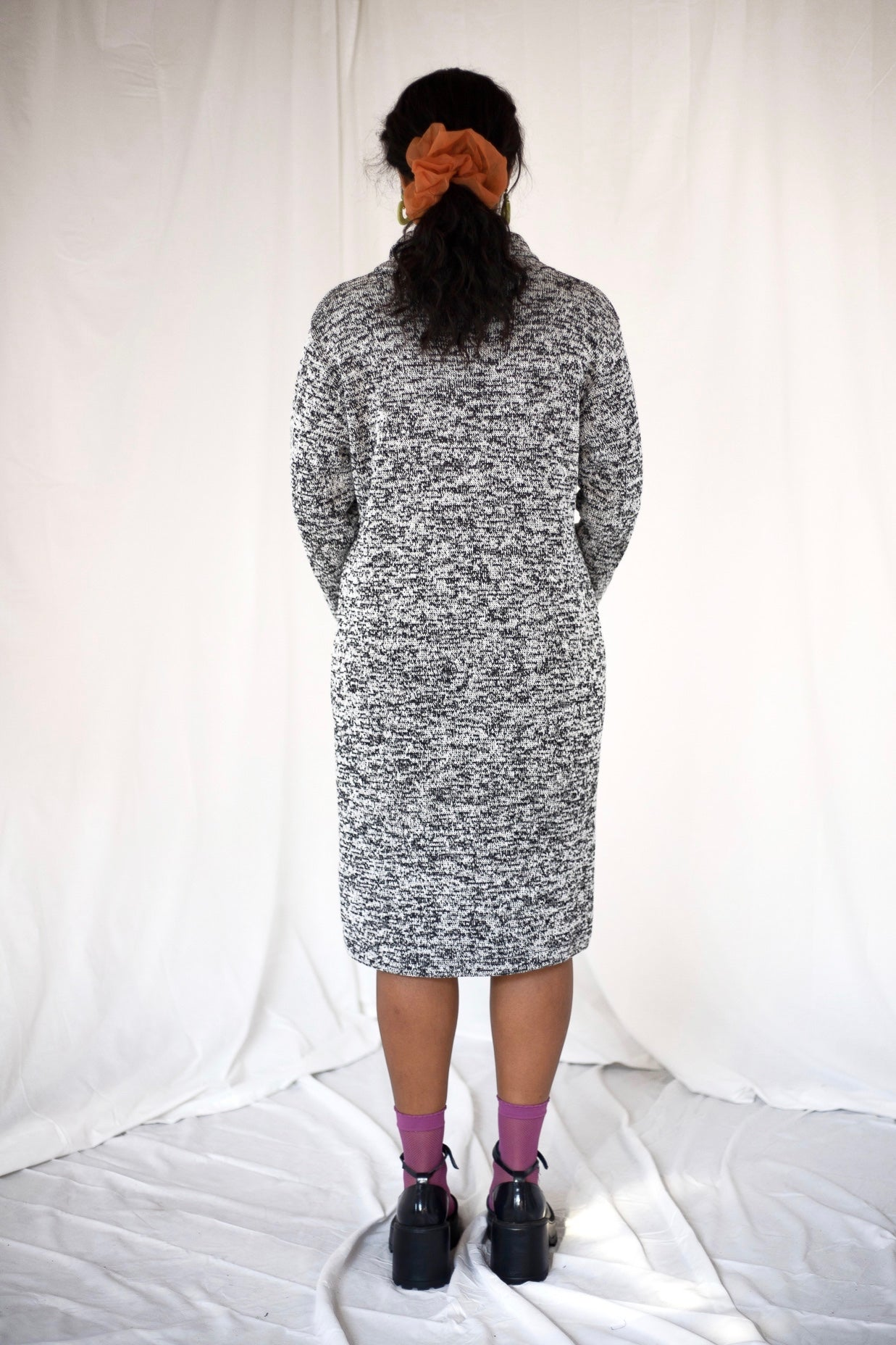 Grey Marl Knit Dress (M-L)
