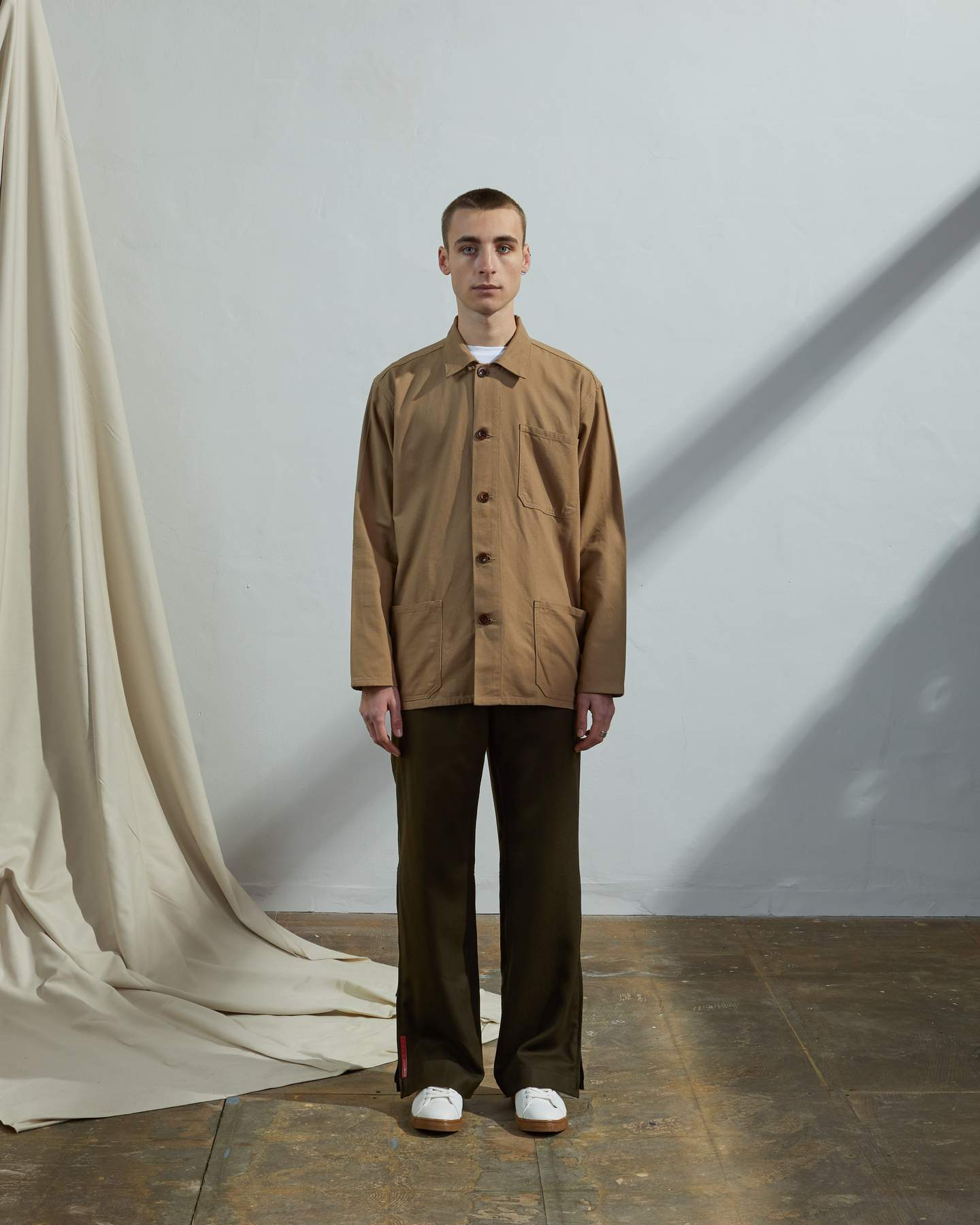 USKEES The #3001 Buttoned Overshirt in Khaki