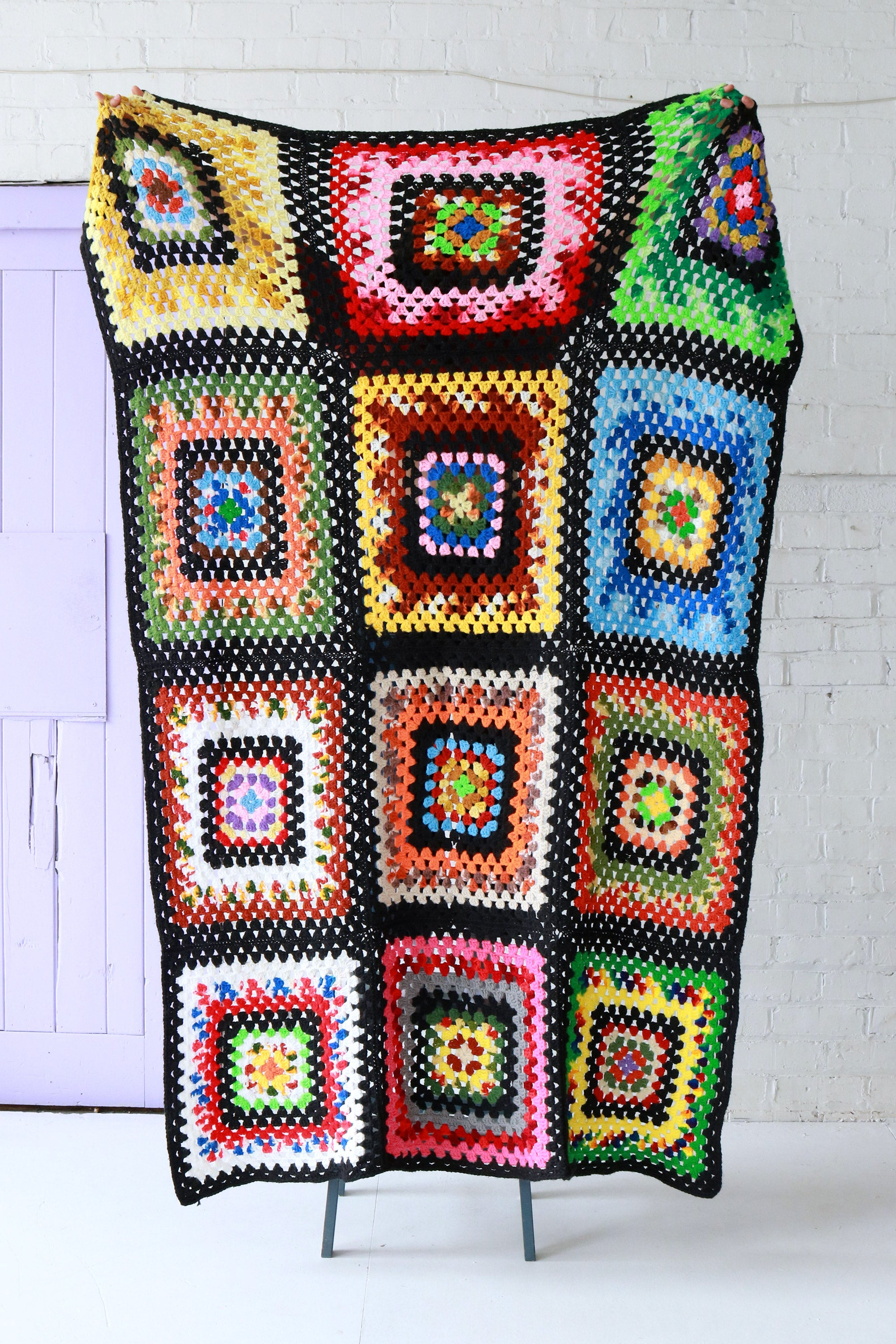 Vintage Crochet Throw | Multi
