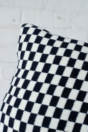 Sidney Cushion | Navy Check | Large