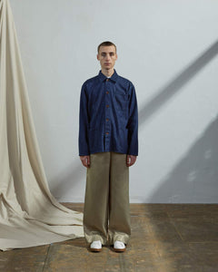 USKEES The #3001 Buttoned Overshirt in Rinsed Denim