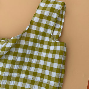 Gingham Shopper in Lime