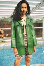 Load image into Gallery viewer, House of Sunny Waiter Blazer w/ Detachable Collar Green