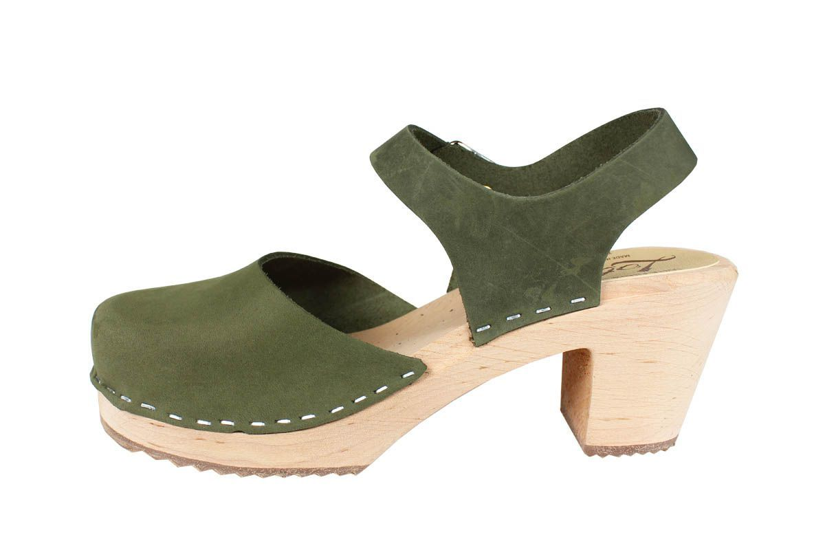 Highwood Green Oiled Nubuck Clog