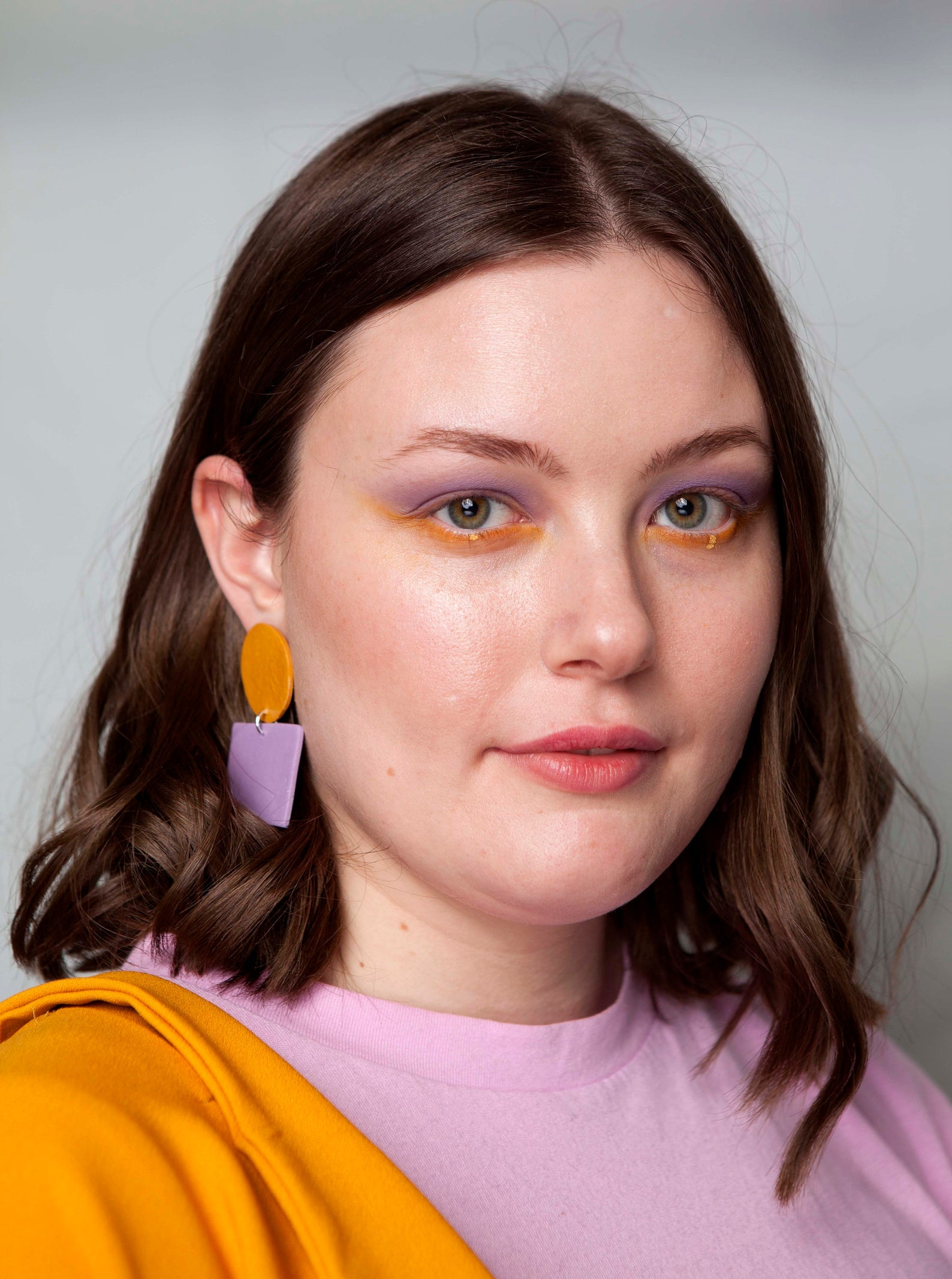 Sara and Loom TOY | Polymer Clay Geometric Statement Colour Earrings