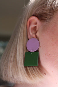 Sara and Loom GIOCO | Polymer Clay Geometric Statement Colour Earrings
