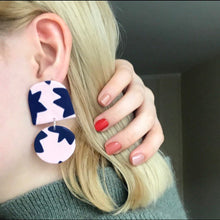 Load image into Gallery viewer, Sara and Loom STARRY | Polymer Clay Geometric Statement Colour Earrings