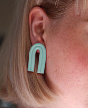 Load image into Gallery viewer, Sara and Loom PASTE | Polymer Clay Geometric Statement Colour Earrings