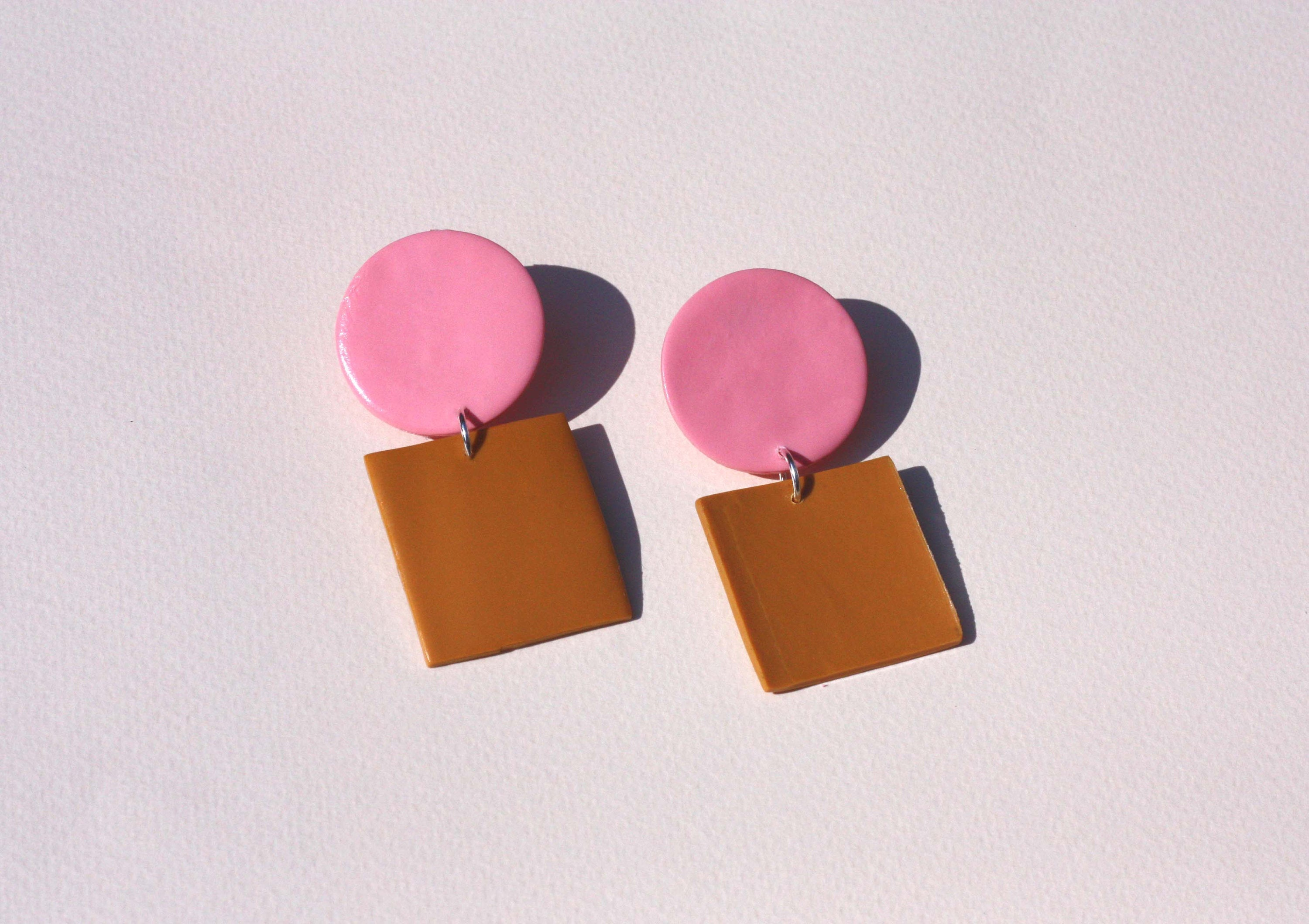 Sara and Loom JOUET | Polymer Clay Geometric Statement Colour Earrings