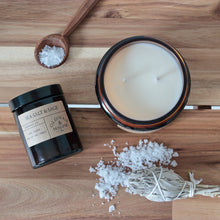 Load image into Gallery viewer, Old Man & Magpie 100% Natural Soy Wax Candle in Sea Salt & Sage