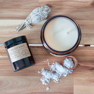 Old Man & Magpie 100% Natural Soy Wax Candle in Sea Salt & Sage