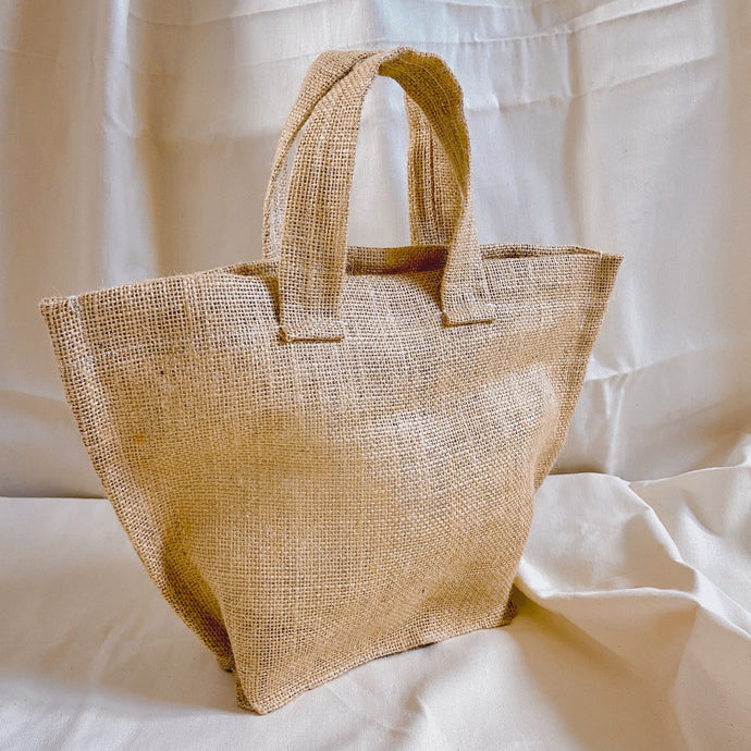 THIRTY NINE STUDIO | FORTY SIX | Hessian Basket Bag