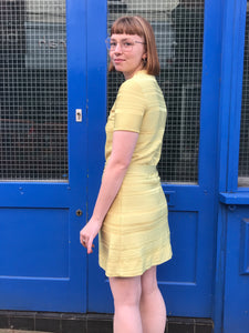 Vintage Yellow 60s Shift Dress