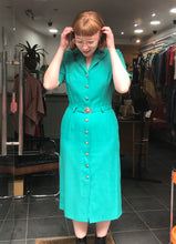 Load image into Gallery viewer, Vintage 1980s teal dress