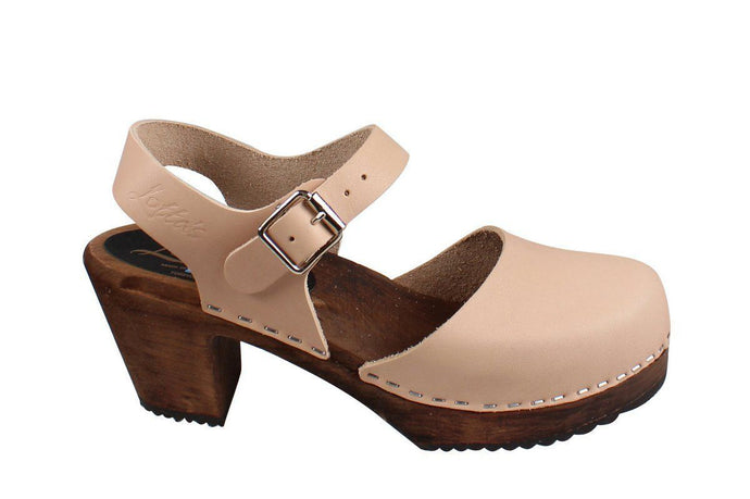 Highwood Cappucino Clog on Brown Base