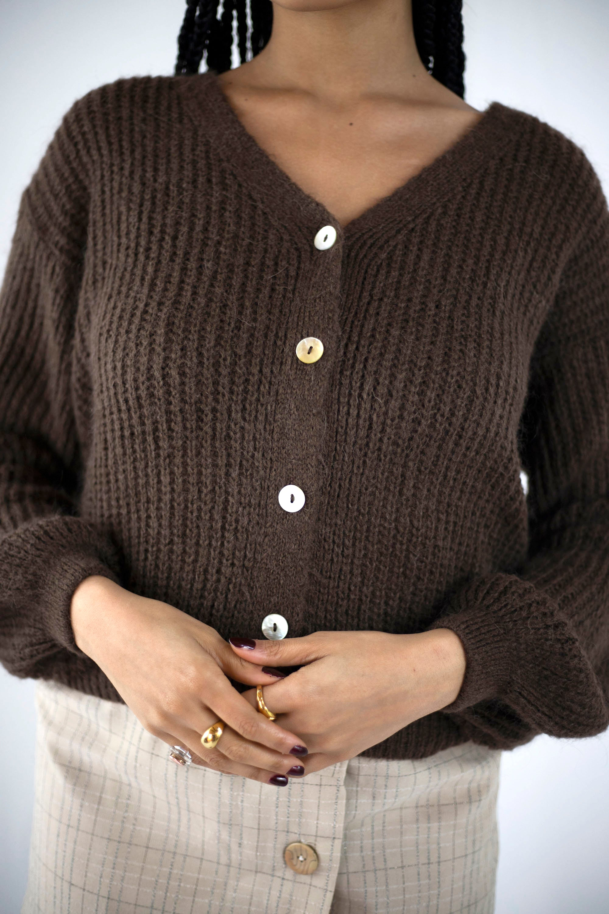 Aya Cardigan | Chocolate
