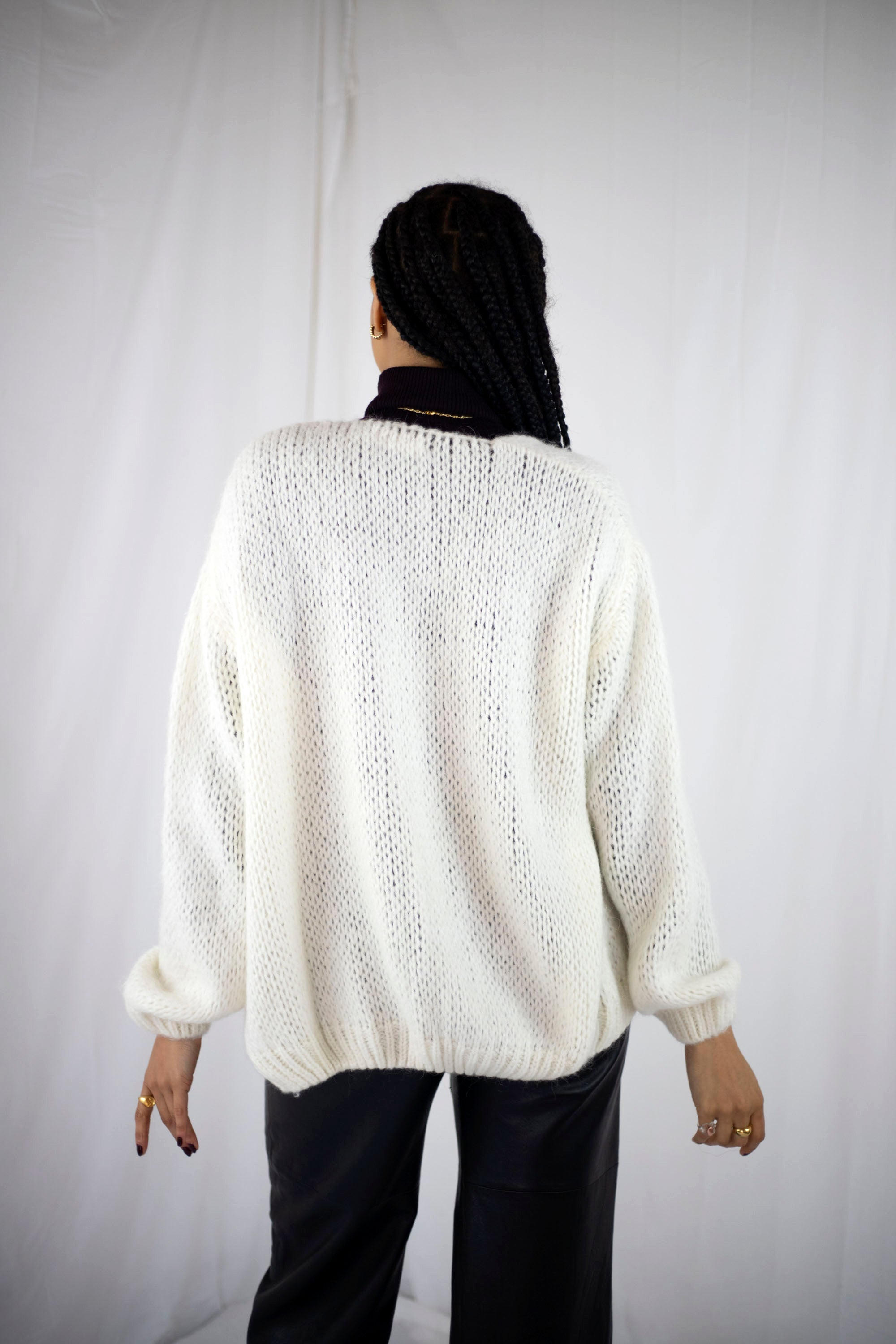 Smila Mohair Cardigan | White