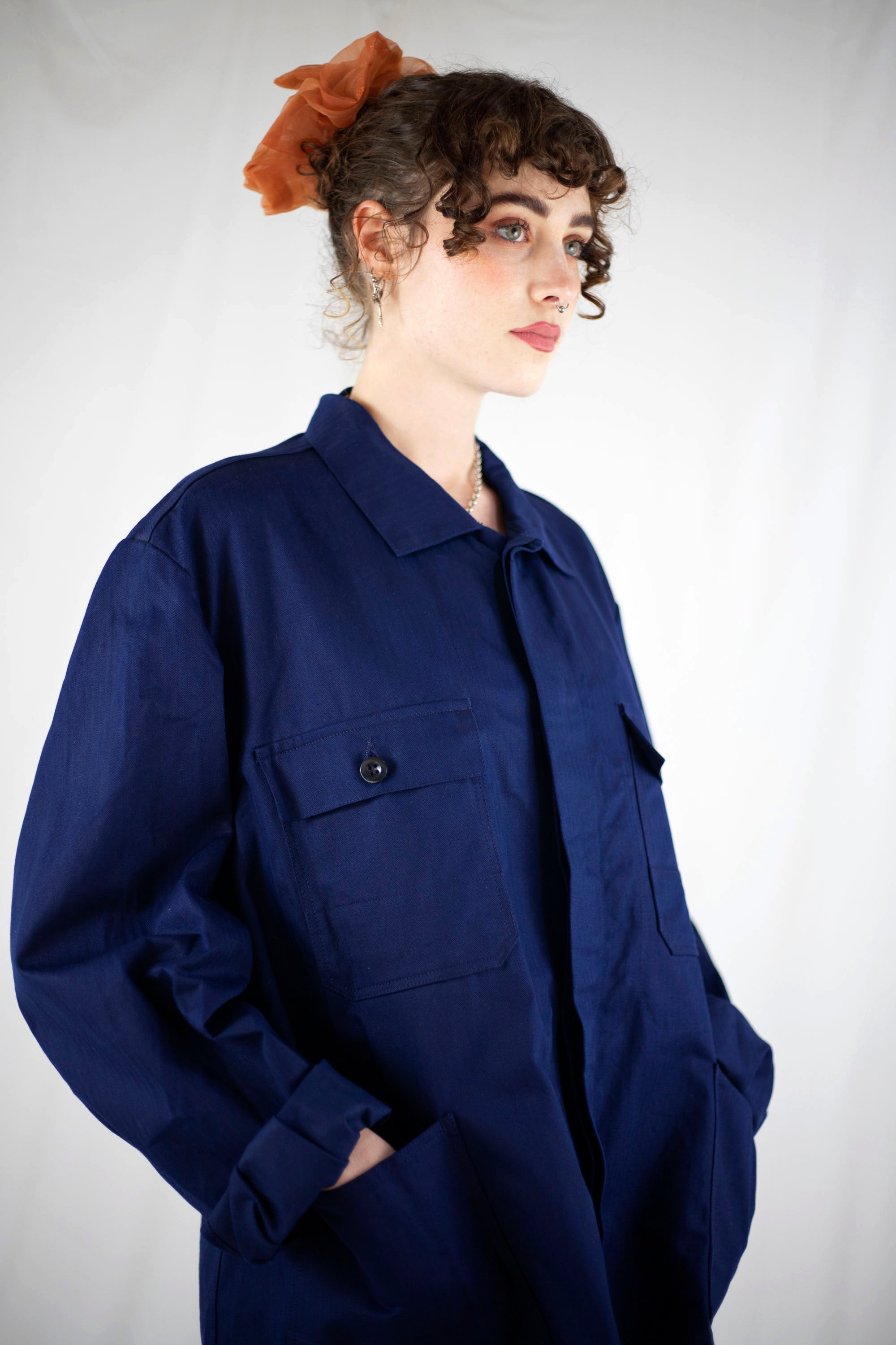 Contrast Stitch Worker Jacket (L)