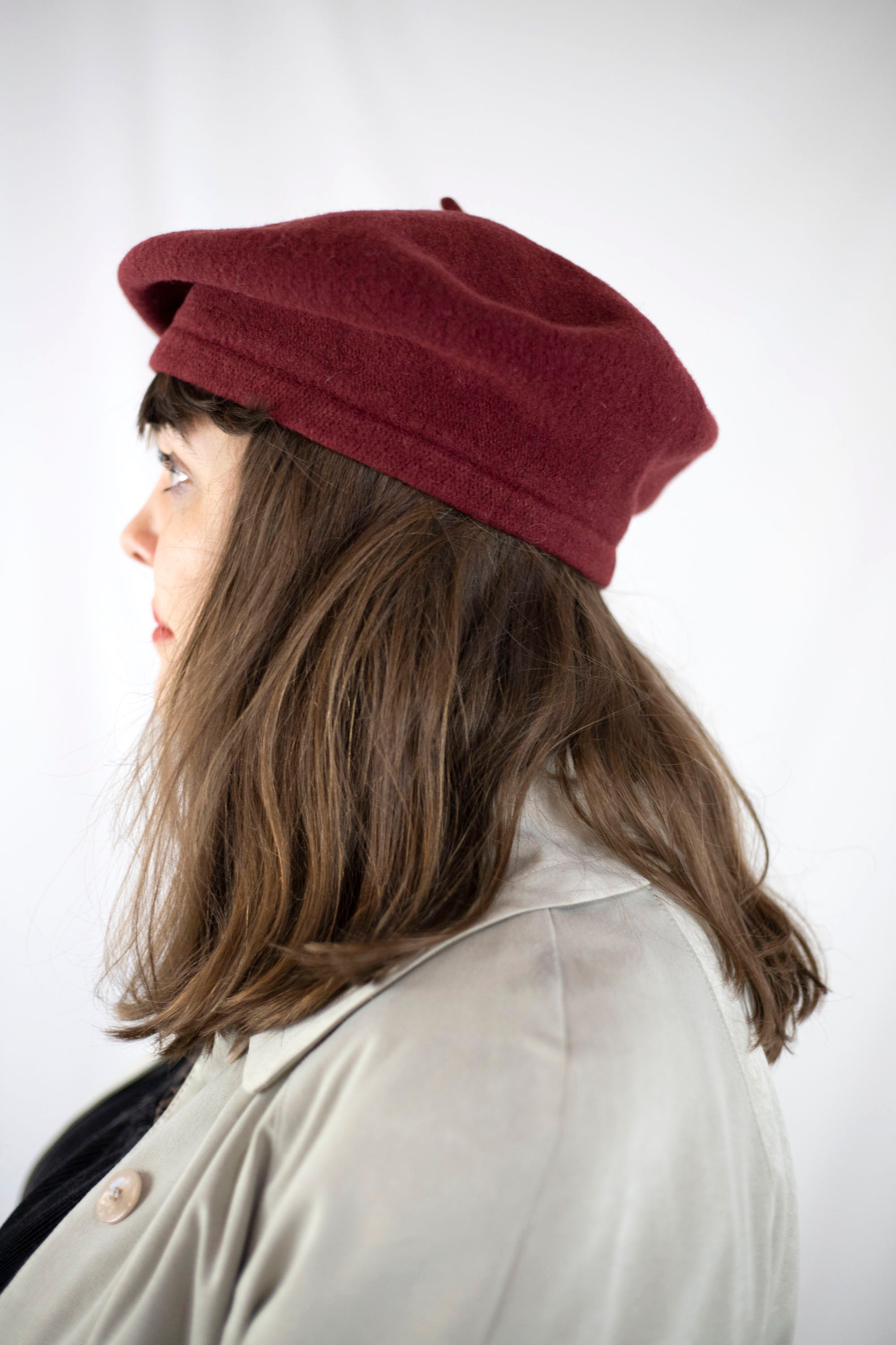 Wool Beret in Rust