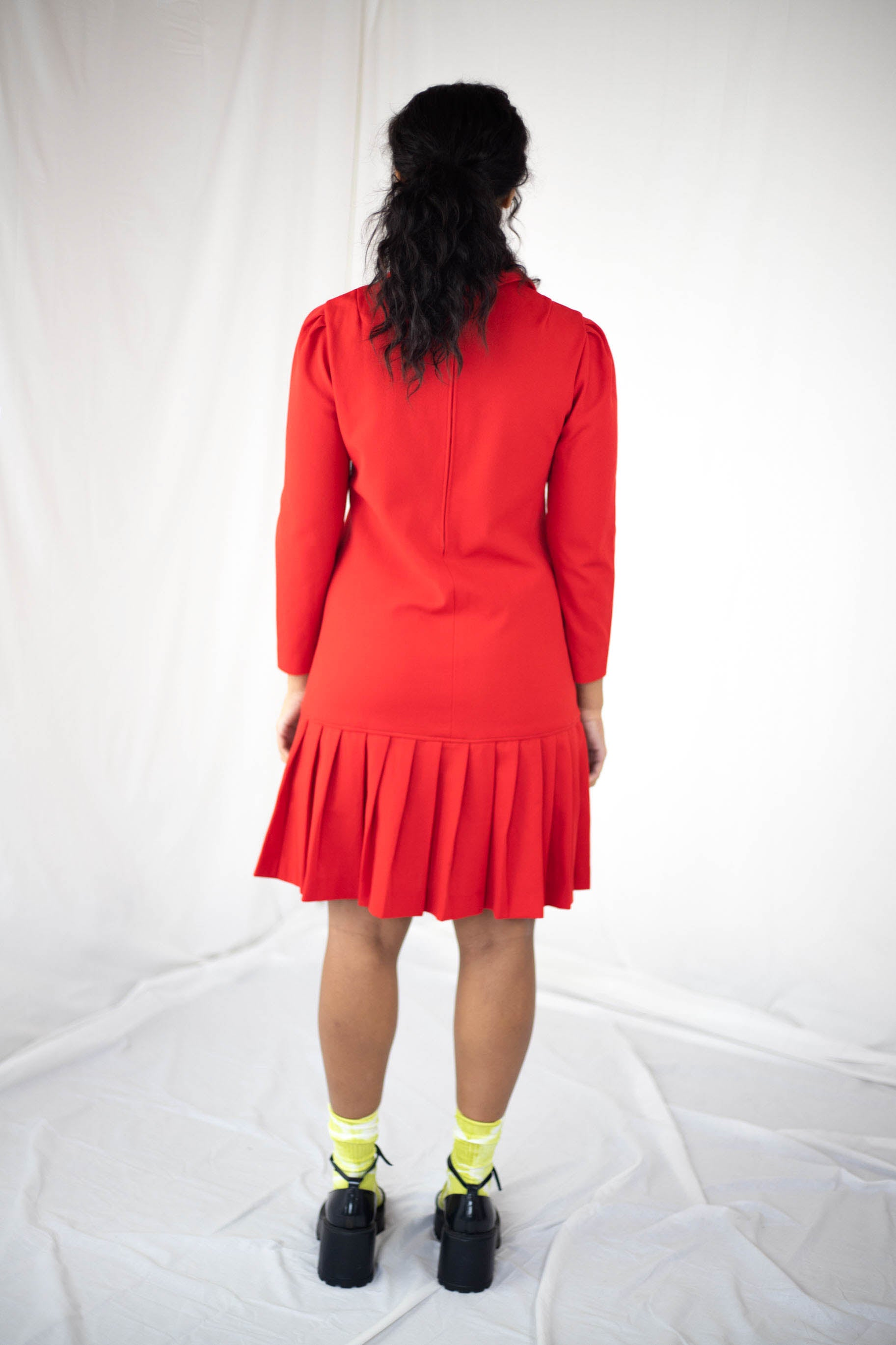 Red Drop Waist Dress (S)