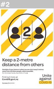 Keep A 2 Meter Distance Signage - Covid19 #2