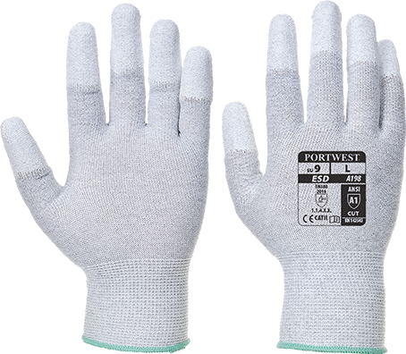 Grey | Antistatic PU Palm Glove | The Safety Warehouse - Online Mega Store.