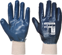 Navy | Nitrile Safety Cuff Glove | The Safety Warehouse - Online Mega Store.