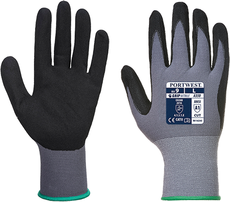 Black | Dermiflex Plus Glove | The Safety Warehouse - Online Mega Store.