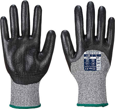 Black | MR Cut PU Palm Glove | The Safety Warehouse - Online Mega Store.