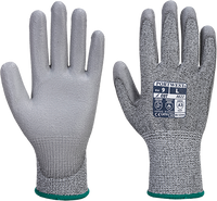 Grey | Vis-Tex PU Cut Resistant Glove | The Safety Warehouse - Online Mega Store.