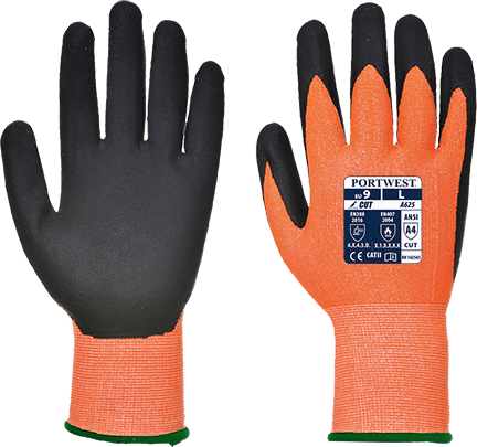 Orange/Black | Vis-Tex PU Cut Resistant Glove | The Safety Warehouse - Online Mega Store.