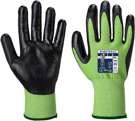Green/Black | VHR Advanced Cut Glove | The Safety Warehouse - Online Mega Store.
