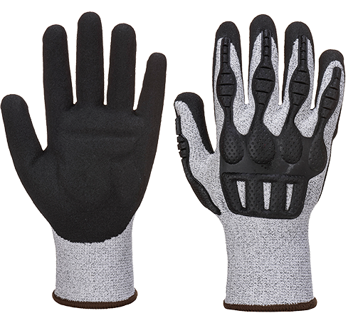 Grey/Black | Impact Pro Cut Glove | The Safety Warehouse - Online Mega Store.