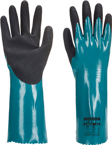 Blue/Black | Dermiflex Aqua Glove | The Safety Warehouse - Online Mega Store.
