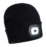 Black | Rechargeable LED Beanie | The Safety Warehouse - Online Mega Store.
