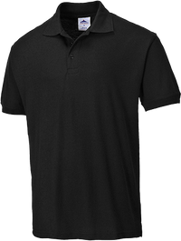 Black | Naples Polo Shirt | The Safety Warehouse - Online Mega Store.