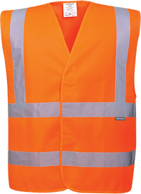 Orange | Hi-Vis Band and Brace Vest | The Safety Warehouse - Online Mega Store.