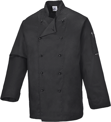 Black | Somerset Chef Jacket | The Safety Warehouse - Online Mega Store.