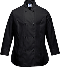 Black | Rachel Chef Jacket  L/S | The Safety Warehouse - Online Mega Store.