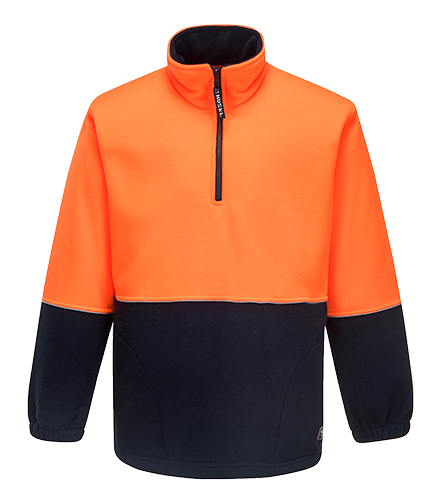 Orange/Navy | Pop Over Fleece | The Safety Warehouse - Online Mega Store.