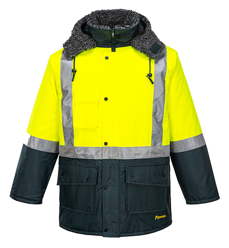 Yellow/Forest | Freezer Jacket | The Safety Warehouse - Online Mega Store.