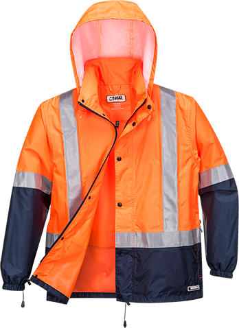 Orange/Navy | Socket Packable Jacket D/N | The Safety Warehouse - Online Mega Store.