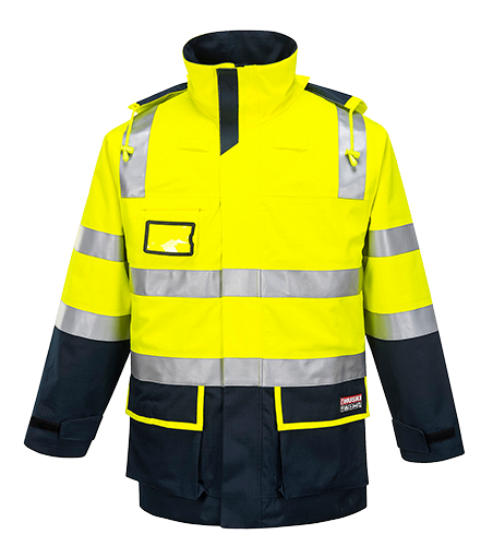 Yellow/Navy | Flash FR Hi-Vis Jacket  D/N | The Safety Warehouse - Online Mega Store.