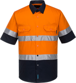Orange/Navy | Lightweight Shirt  S/S  D&N | The Safety Warehouse - Online Mega Store.