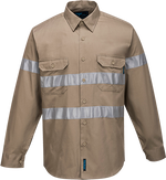 Khaki | Cotton Shirt  L/S  Class N | The Safety Warehouse - Online Mega Store.