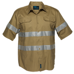 Khaki | Cotton Shirt  S/S  Class N | The Safety Warehouse - Online Mega Store.