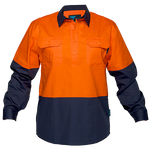 Orange/Navy | Closed Shirt  L/S  Class D | The Safety Warehouse - Online Mega Store.
